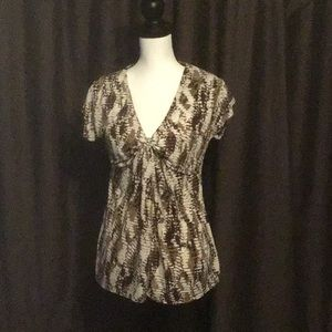 Pretty knotted Front Chaus Tunic Sz S